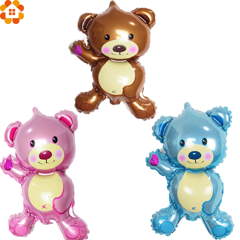 3PCS Cute Boy&Girl Birhtday Party Balloons Kids Balloon Toys Foil Balloons Birthday Party Decoration Baby Shower Party Supplies