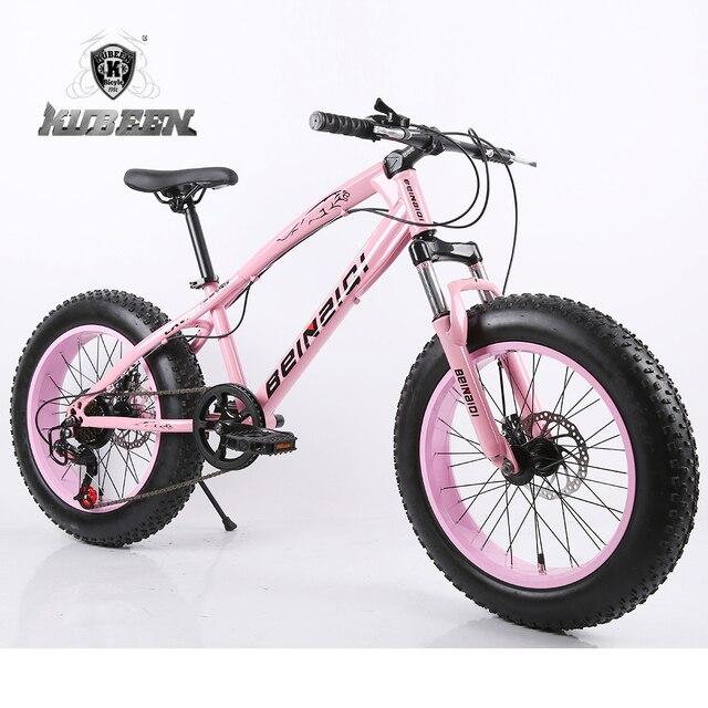 """7/21/24/27 Velocidad 20x4.0 """"Fat bike Bicicleta de Montaña de La Bicicleta de Nieve Choque Suspensión tenedor bicicleta"""