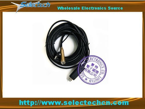 Free shippping 10M waterproof USB Wire snake camera /endoscope  with 4 LED light SE-EN010