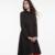 Sisjuly negro otoño maxi dress largo moda negro sólido rojo hermoso vestido de manga larga otoño invierno mujeres vestidos maxis 2017