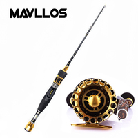 Mavllos Titanium Rod Tip Raft Fly Fishing Rod Reel Combo Saltwater Ultra Light Spinning Casting Telescopic Fishing Rod Reel Set