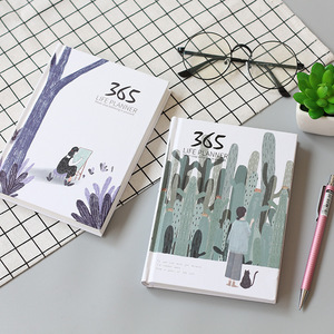Image 2 - 365 ימים אישי יומן מתכנן כריכה קשה מחברת יומן 2021 משרד לוח זמנים שבועיים חמוד קוריאני מכתבים libretas y cuadernos
