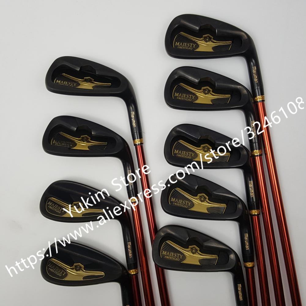 New Golf Clubs Maruman Majesty Prestigio 9 Golf Irons 5-10 P.A.S Irons Clubs Graphite Shaft R/S Flex Free Shipping
