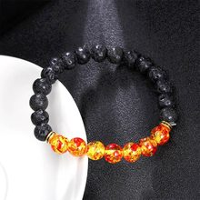 2018 New Hot Selling Ambers Lava Stone Natural Stone Bead Bracelet Chakra Stone Jewelry Women Men Gift Yoga Stretch Bracelet(China)
