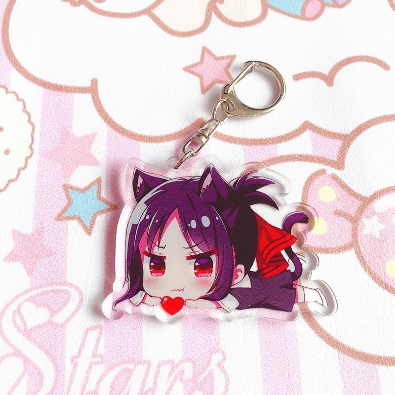 1 Stücke Anime Kaguya-sama: Liebe Ist Krieg Fujiwara Chika Shinomiya Kaguya Keychain Doppelseitige Anhänger Schlüsselanhänger