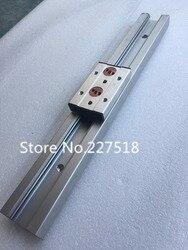 1 pc SGR15 podwójna oś rolki liniowy przewodnik L500mm + 1 pc SGB15UU bloku wieloosiowa rdzeń liniowy ruch liniowy szyny aluminium przewodnik