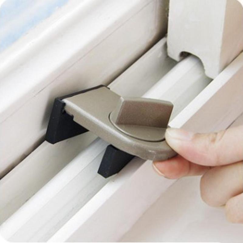 Kids Portable Sliding Window Sash Cabinet Door Safety Lock Security Stopper 66
