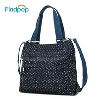 Findpop Vintage Women's Handbags Canvas Crossbody Bags For Women 2018 Casual Ladies Tote Bag Waterproof Geometric Crossbody Bags