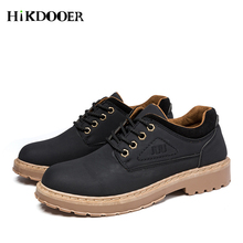 Leather Men Shoes Autumn Winter Martin Fashion Footwear Lace Up High Quality Vintage Sneaker