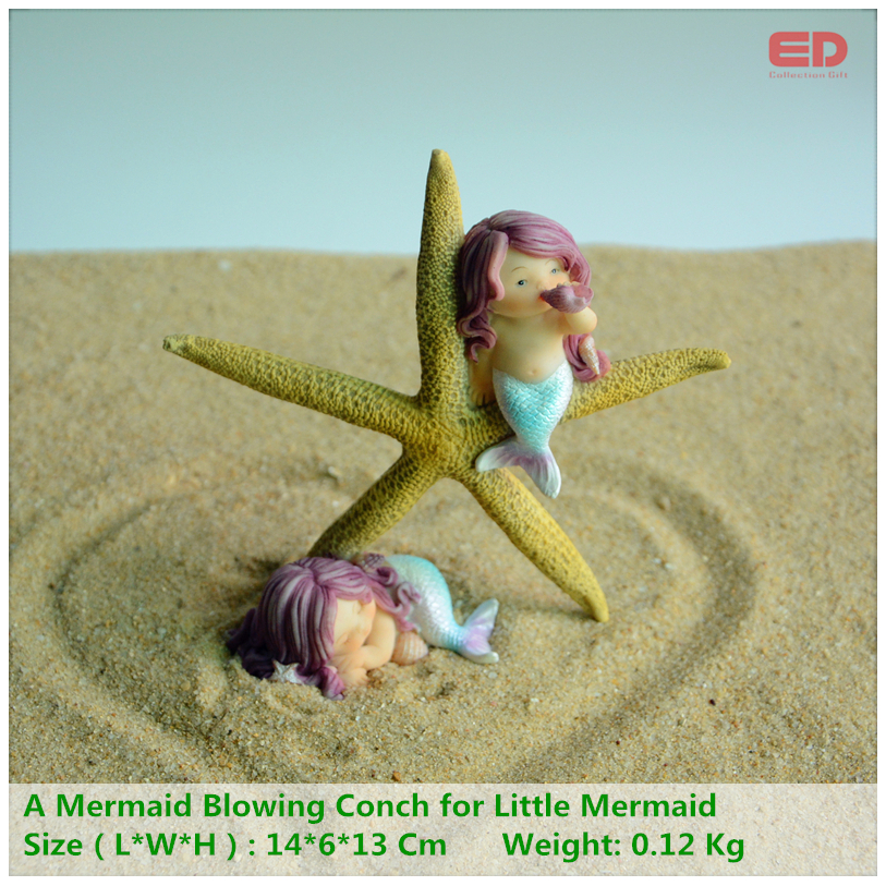Collezione Everyday Modern Office Desk Accessori per la casa Accessori Regalo Valentine Mermaid Starfish Ornament Regalo di ritorno