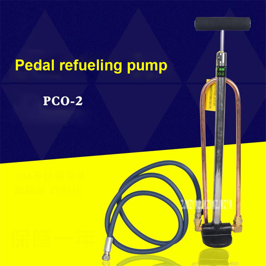 New PCO-2 Central Air Conditioning Manual Fuel Pump Compressor Frozen Oil Refueling Gun Refueling Pump Refrigeration Tools 75ml