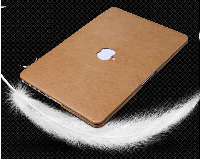 W404F high quality pu leather laptop sleeves covers cases for Macbook air 11 13 pro 15 retina Hollow out logo