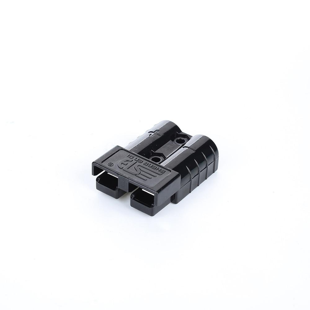 50A 600 в 5 цветов разъем питания штепсельный соединитель сменный упрощает сборку разъем питания универсальный штекер - Цвет: black