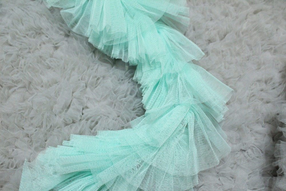 tiffanyblu wedding Based all match lace gauze fold doll dress skirt dress hem lace accessories 5yards
