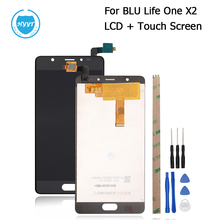 For BLU Life One X2 LCD Display And Touch Screen Screen Digitizer Assembly Replacement Mobile Phone Accessories +Tools+Adhesive
