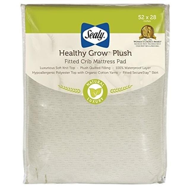Kolcraft ED024-QEX1 Sealy Healthy Grow Plush Crib Mattress Pad матрас sealy premier plush 80х200 см