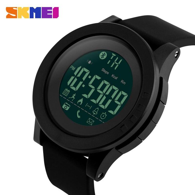 SKMEI Männer Smart Uhr Calorie Pedometer Multi-Funktionen Remote Kamera 50 mt Wasserdichte Digital männer SmartWatch Relogio Masculino