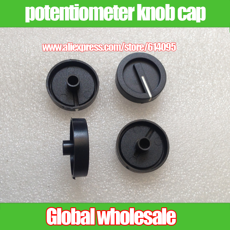 Word Hole 6mm Cap Knurling Shaft Power Amplifier Volume Switch Knob 1pcs Flower Shaft Potentiometer Knob Cap
