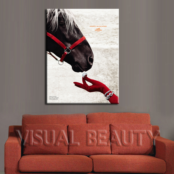 Free shipping wholesale horse poster prints on canvas for Cheap art prints on canvas