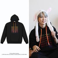 Kpop Hoodies Bangtan Boys JIMIN Same Style Good For You Printed Letters Black Sweatshirt Coat Fashion Boys Girls Outwears