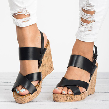 Women Sandals Plus Size Wedges Shoes For Women Summer Shoes Female Platform Sandals High Heels Chaussures Femme Wedge Heel Shoes