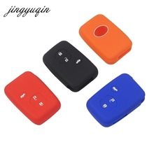 jingyuqin Silicone Cover for Toyota Land Cruiser Camry Highlander Crown Prado Prius Car Key Set Jacket Cover Case Remote
