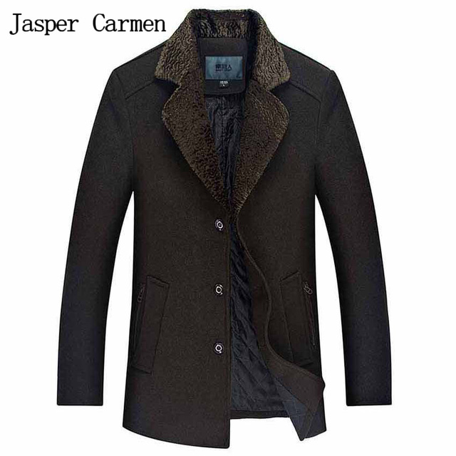 Free shipping 2017 new Men's Casual Slim woolen coat Thick Warm Trench coat Men Woolen jacket High quality wool  jackets 188yw