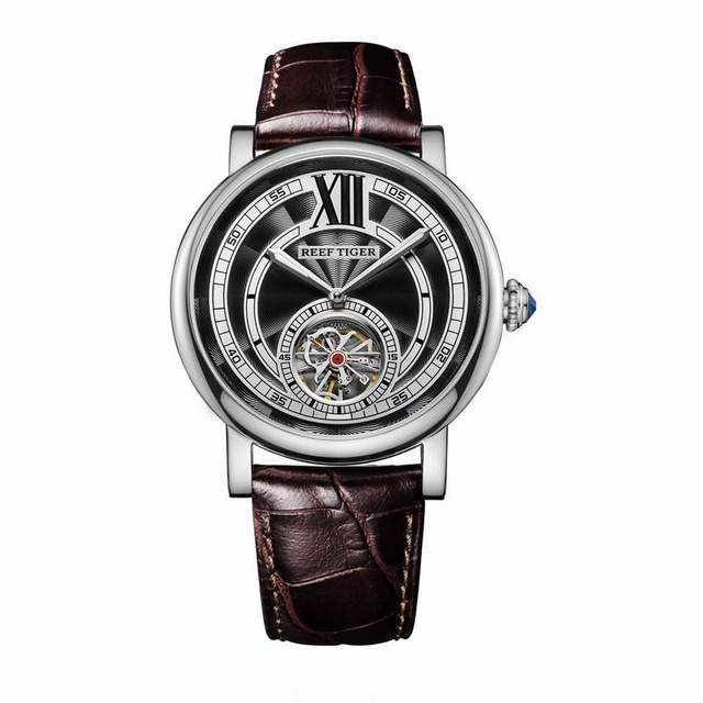 Reef Tiger Artist Serier RGA192 Men Business Fly Wheel Dial Automatic Mechanical Wrsit Watch цена и фото