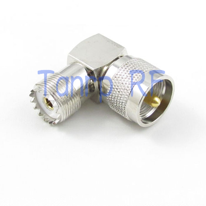 Wholesale UHF SO-239 female jack to UHF male plug right angle 90 degree RF coaxial connector adapter cable румяна rouge bunny rouge original skin blush for love of roses 034 цвет 034 gracilis variant hex name eabbcb
