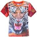 Nova marca estilo summer baby boy camiseta para chico tops y camisetas ropa de los cabritos camiseta de los muchachos de impresión tigor niños ropa C6078
