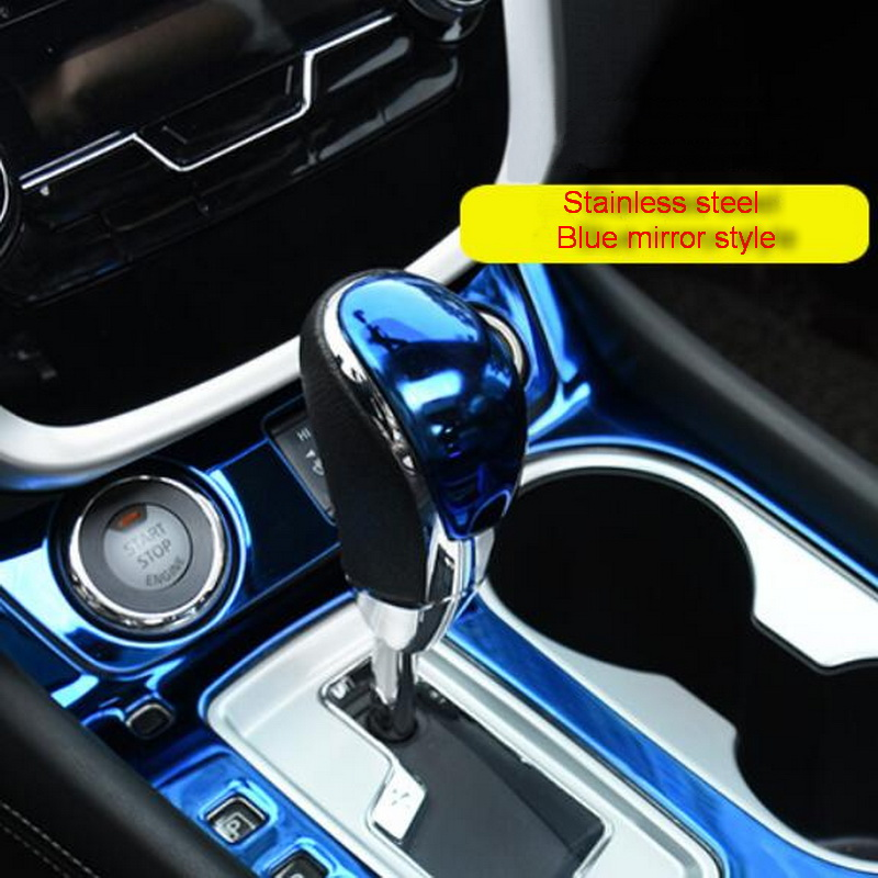 Tonlinker Interior Gear head Cover case Stickers for Nissan Murano 2015 19 Car styling 1 PCS Stainless steel Cover stickers in Interior Mouldings from Automobiles Motorcycles