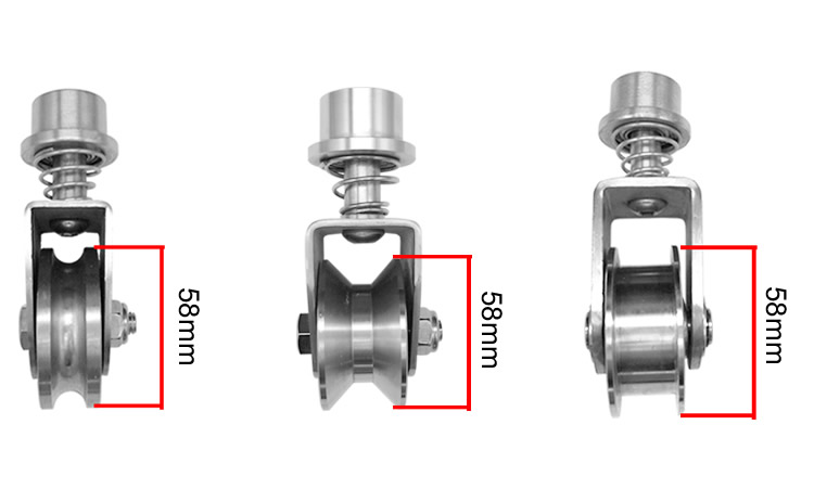 Logical Factory Outlets,304 Stainless Steel Spring Fixed /track/lifting Pulley/wire Rope Pulley,stable,durable,industrial Hardware Easy And Simple To Handle
