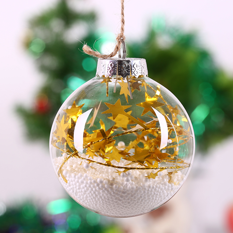 Diy Glass Ornaments: Christmas Glass Ball Tree Decoration / Gold Star String