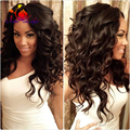 Cheap Synthetic lace front wig high density Body Wave hair glueless synthetic lace front wig With baby Hair Bouncy Wave hair wig