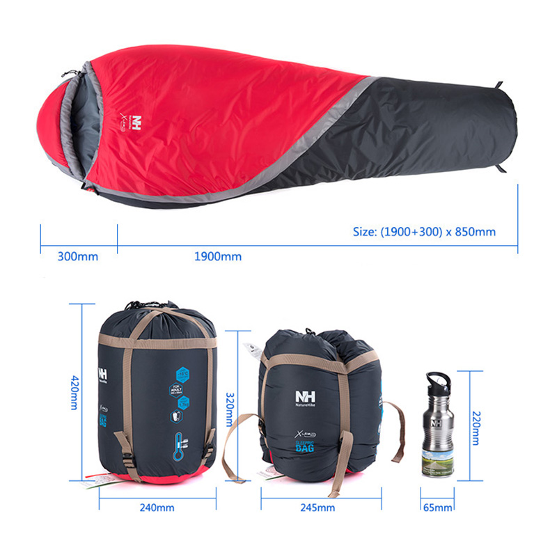NatureHike NH15S001 S зимний спальный мешок Мумия для кемпинга пешего туризма путешествия можно молнии вместе - 3