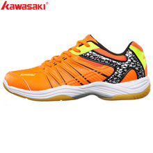 KAWASAKI Brand Professional Green Badminton Shoes Lace Up Sneakers Breathable Me