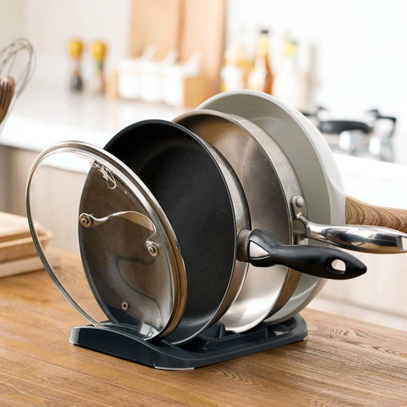 Kitchen pot rack shelf lid shelf rack household pot drain storage kitchen appliances hanging pot racks for kitchen  LO1217246
