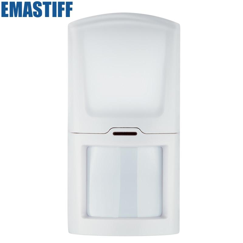 Free shipping Wireless PIR Motion Sensor for GSM alarm system detector free shipping best quality 433mhz wireless glass vibration breakage sensor detector for gsm and pstn alarm system