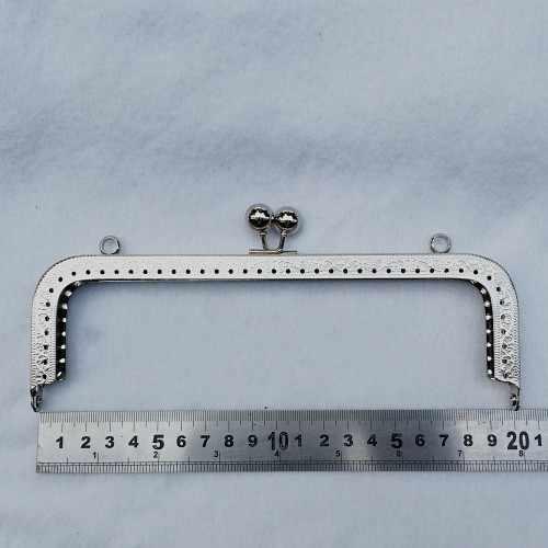10 шт./лот 20 см античная бронза пистолет черный серебряный золотой тон металлический кошелек рамка для портмоне Изготовление DIY сумки аксессуары