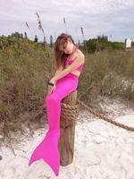 Summer Girl Kids Mermaid Tail Swimwear Children Bikini Bathing Cosplay Suit Swimsuit Beach Wear Baby Swimming