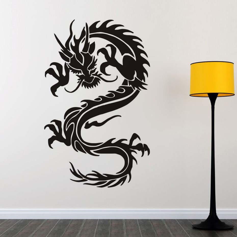 Chinese culture dragon symbols of virtue and strength wall sticker chinese culture dragon symbols of virtue and strength wall sticker removable pvc material decal for living room home decor in hair clips pins from beauty amipublicfo Choice Image
