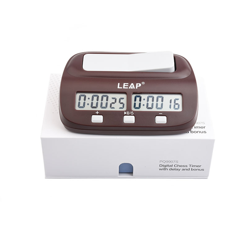 LEAP Chess Clocks Professional Portable Digital Chess Board Competition Count Up Down Chess Games Electronic Alarm Stop Timer