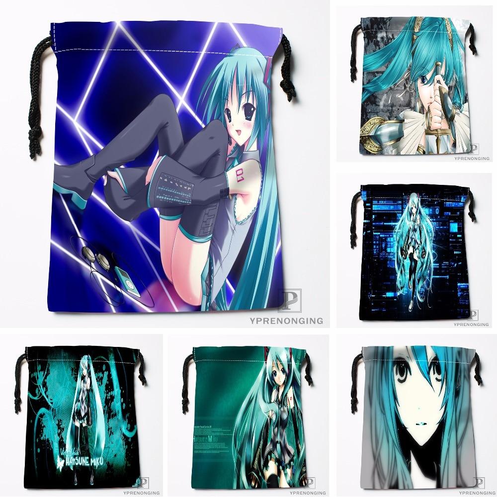 Custom Hatsune Miku Drawstring Bags Printing Travel Storage Mini Pouch Swim Hiking Toy Bag Size 18x22cm#180412-11-78