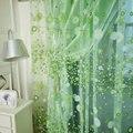 Para fios de cortina rústico personalizar produtos acabados varanda romântico rosa verde tulle tecidos design floral sheer painel