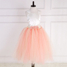 White Satin Bodice Top Tulle Tutu Party Dress for Kids Flower Bridesmaid Lace Dress Teen Wedding Dress Girls 11 Years Vestido все цены