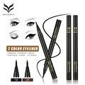 2 UNIDS mucho líquido impermeable delineador de ojos maquillaje de ojos lápiz delineador de ojos lápiz de cejas marrón negro marca de maquillaje juegos