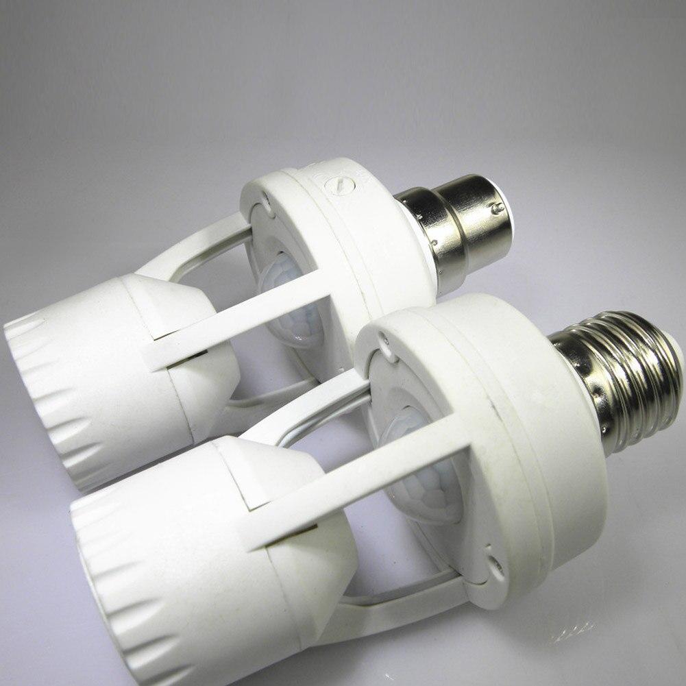 Высокочувствительный инфракрасный датчик движения E27 B22 E14, светодиодная лампа с держателем и переключателем управления освещением, инфракрасная Индукционная лампа