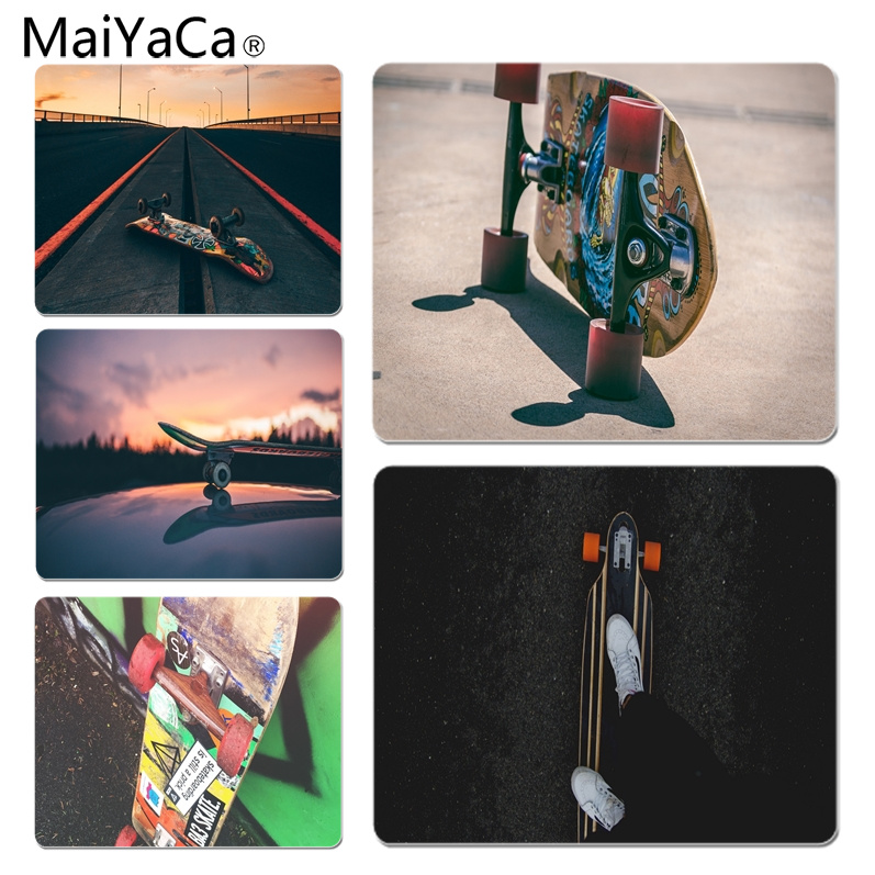 MaiYaCa Skateboard Road Silicone Pad to Mouse Game Size for 25X29cm Gaming Mousepads