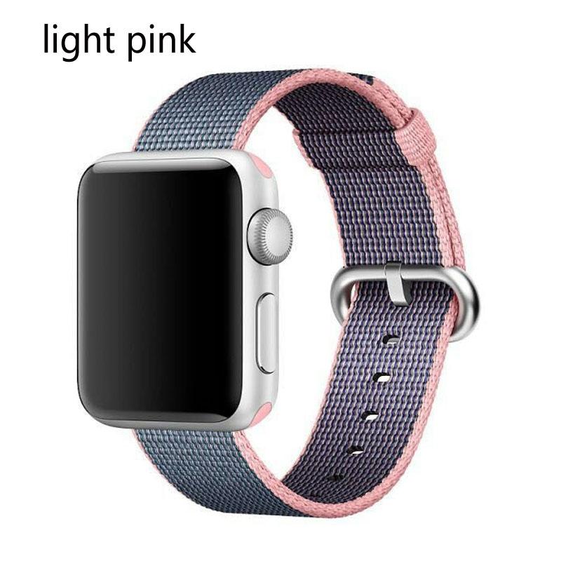 новое поступление нейлон ремешок группа для Apple, часы 42 мм 38 мм спортивный браслет и ткань нейлон ремешок для часов iwatch 1/2/3
