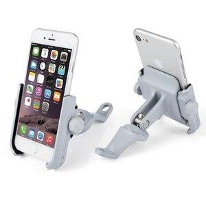 Image 2 - Haute qualité robuste en alliage daluminium rétroviseur Support de téléphone pour Moto Moto Support de Support Support pour iPhone12 GPS